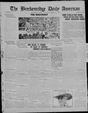 Primary view of object titled 'The Breckenridge Daily American (Breckenridge, Tex), Vol. 2, No. 5, Ed. 1, Tuesday, July 5, 1921'.