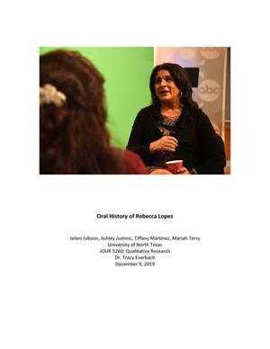 Oral History Interview with Rebecca Lopez, December 9, 2019