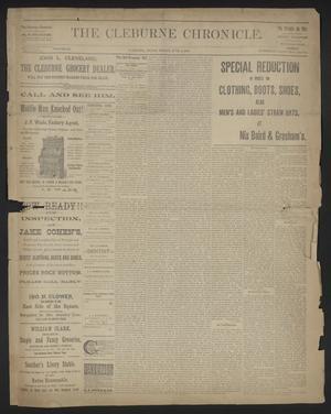 The Cleburne Chronicle. (Cleburne, Tex.), Vol. 22, No. 36, Ed. 1 Friday, June 6, 1890
