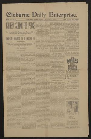 Cleburne Daily Enterprise. (Cleburne, Tex.), Vol. 12, Ed. 1 Monday, August 13, 1900