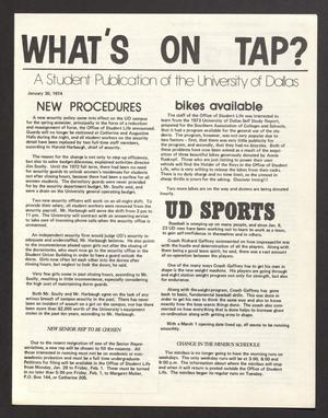 What's On Tap? (Irving, Tex.), Vol. [2], No. [2], Ed. 1 Wednesday, January 30, 1974