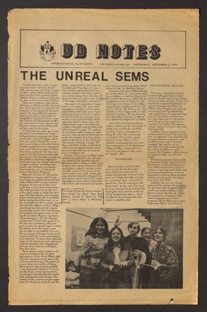 UD Notes (Irving, Tex.), Ed. 1 Wednesday, September 11, 1974