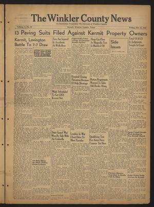 The Winkler County News (Kermit, Tex.), Vol. 7, No. 28, Ed. 1 Friday, October 15, 1943