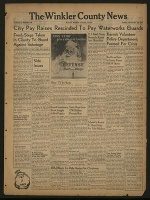The Winkler County News (Kermit, Tex.), Vol. 5, No. 40, Ed. 1 Friday, December 19, 1941