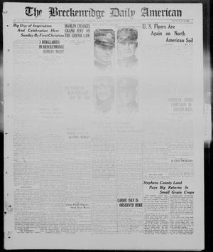 Primary view of object titled 'The Breckenridge Daily American (Breckenridge, Tex), Vol. 5, No. 51, Ed. 1, Monday, September 1, 1924'.