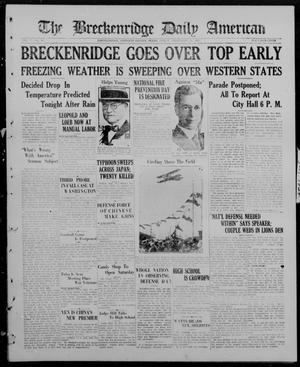 Primary view of object titled 'The Breckenridge Daily American (Breckenridge, Tex), Vol. 5, No. 61, Ed. 1, Friday, September 12, 1924'.