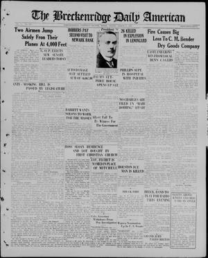 Primary view of The Breckenridge Daily American (Breckenridge, Tex), Vol. 5, No. 210, Ed. 1, Friday, March 6, 1925