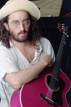 [James McMurtry With a Pink Guitar]