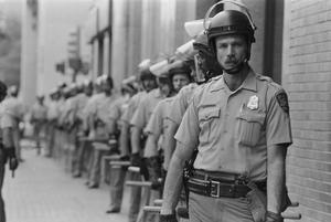 [Police Officers at KKK Rally and Counter Protest]