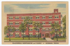 [Blackwell Sanitarium and Clnic]