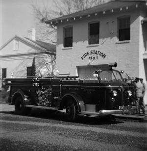 [P. F. D. Engine No. 3 at Fire Station No. 1]