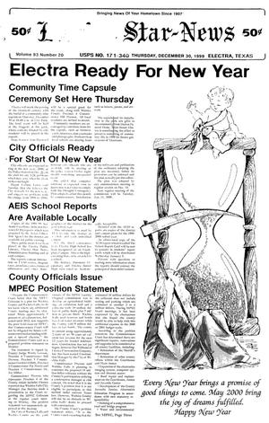 Primary view of Electra Star-News (Electra, Tex.), Vol. 93, No. 20, Ed. 1 Thursday, December 30, 1999