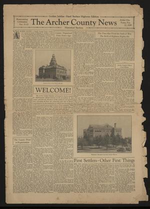 The Archer County News (Archer City, Tex.), Vol. [19], No. [16], Ed. 1 Monday, November 11, 1929