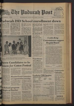 The Paducah Post (Paducah, Tex.), Vol. 75, No. 27, Ed. 1 Thursday, September 3, 1981
