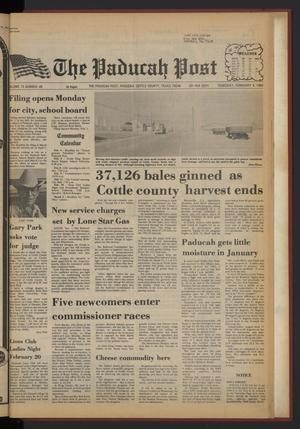 The Paducah Post (Paducah, Tex.), Vol. 75, No. 49, Ed. 1 Thursday, February 4, 1982