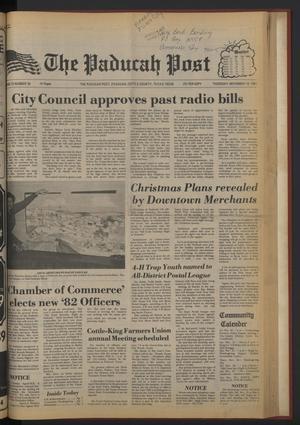 The Paducah Post (Paducah, Tex.), Vol. 75, No. 38, Ed. 1 Thursday, November 19, 1981