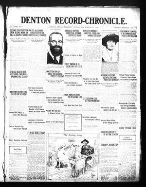Primary view of Denton Record-Chronicle. (Denton, Tex.), Vol. 20, No. 190, Ed. 1 Tuesday, March 23, 1920