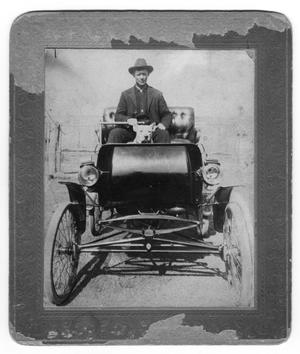 Primary view of object titled 'Gentry Thompson and Dog in Automobile'.