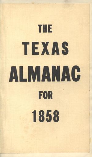 The Texas Almanac for 1858
