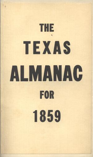 Primary view of object titled 'Texas Almanac, 1859'.