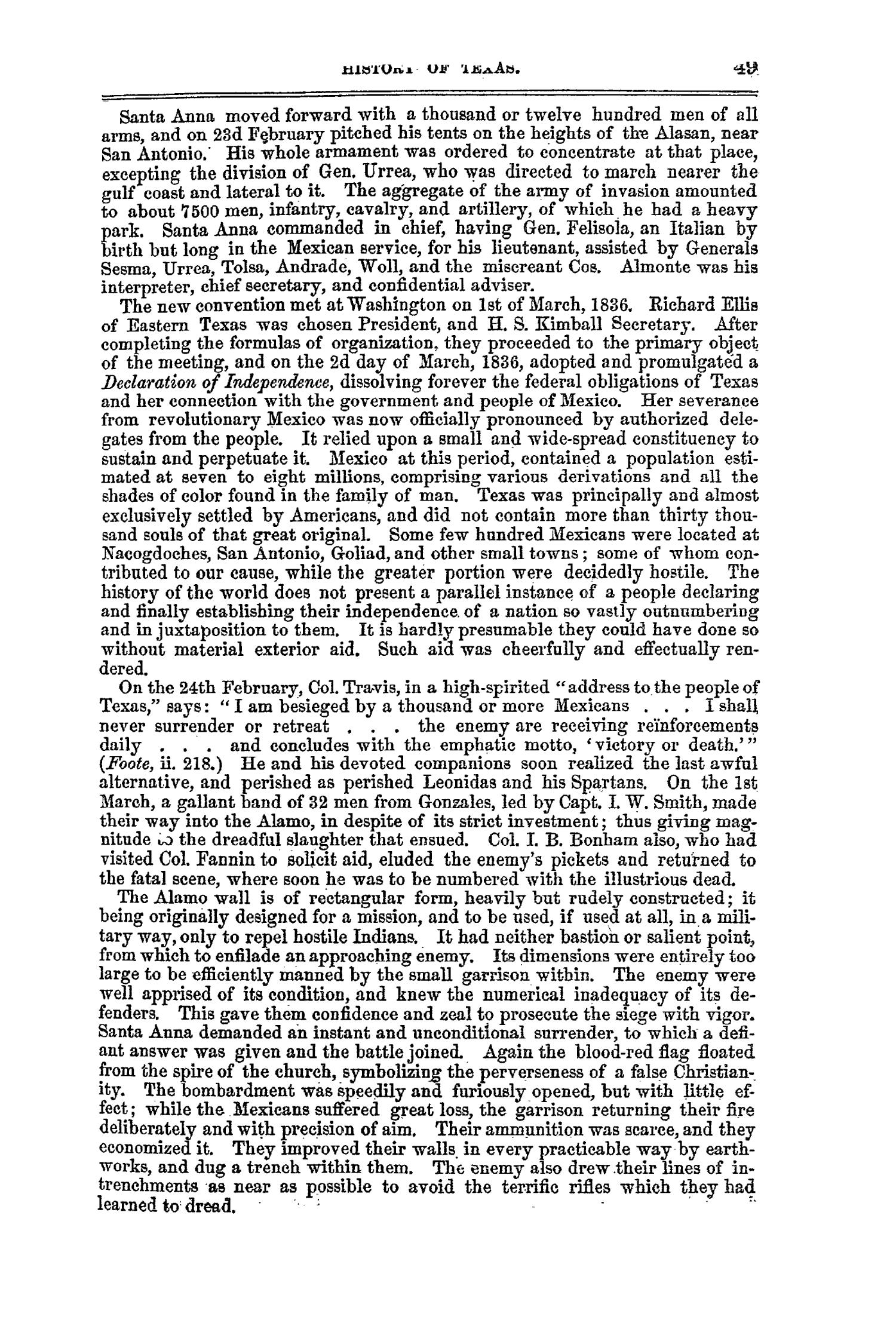 The Texas Almanac, for 1860, with Statistics, Historical and Biographical Sketches, &c., Relating to Texas.                                                                                                      49