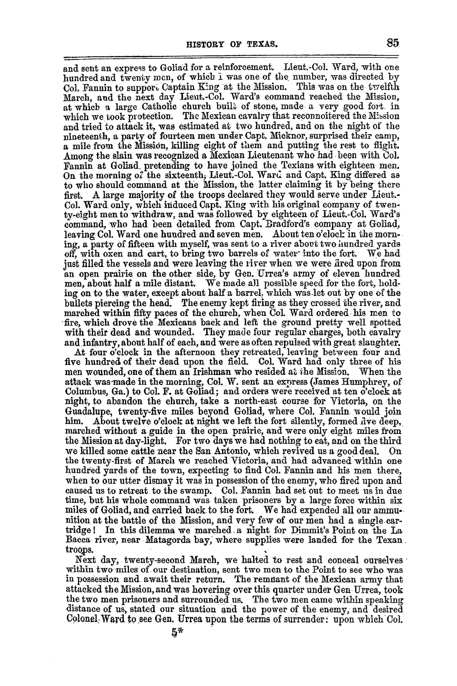 The Texas Almanac, for 1860, with Statistics, Historical and Biographical Sketches, &c., Relating to Texas.                                                                                                      85