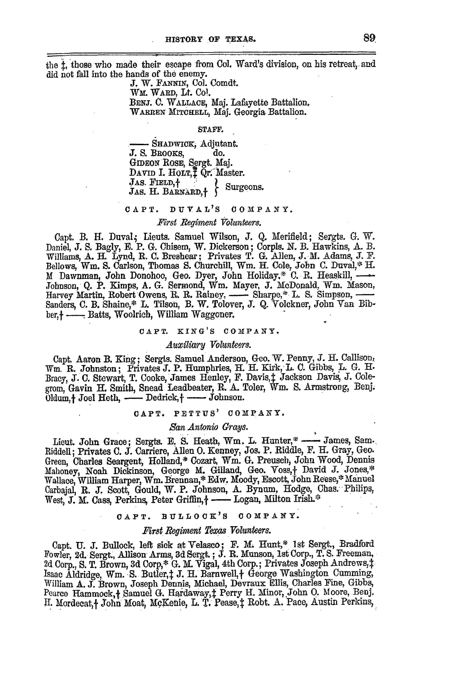 The Texas Almanac, for 1860, with Statistics, Historical and Biographical Sketches, &c., Relating to Texas.                                                                                                      89