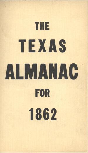Primary view of object titled 'The Texas Almanac for 1862'.