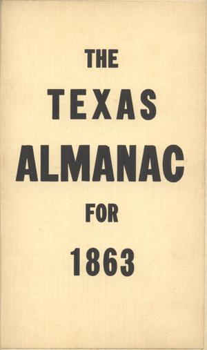 Primary view of object titled 'The Texas Almanac for 1863'.