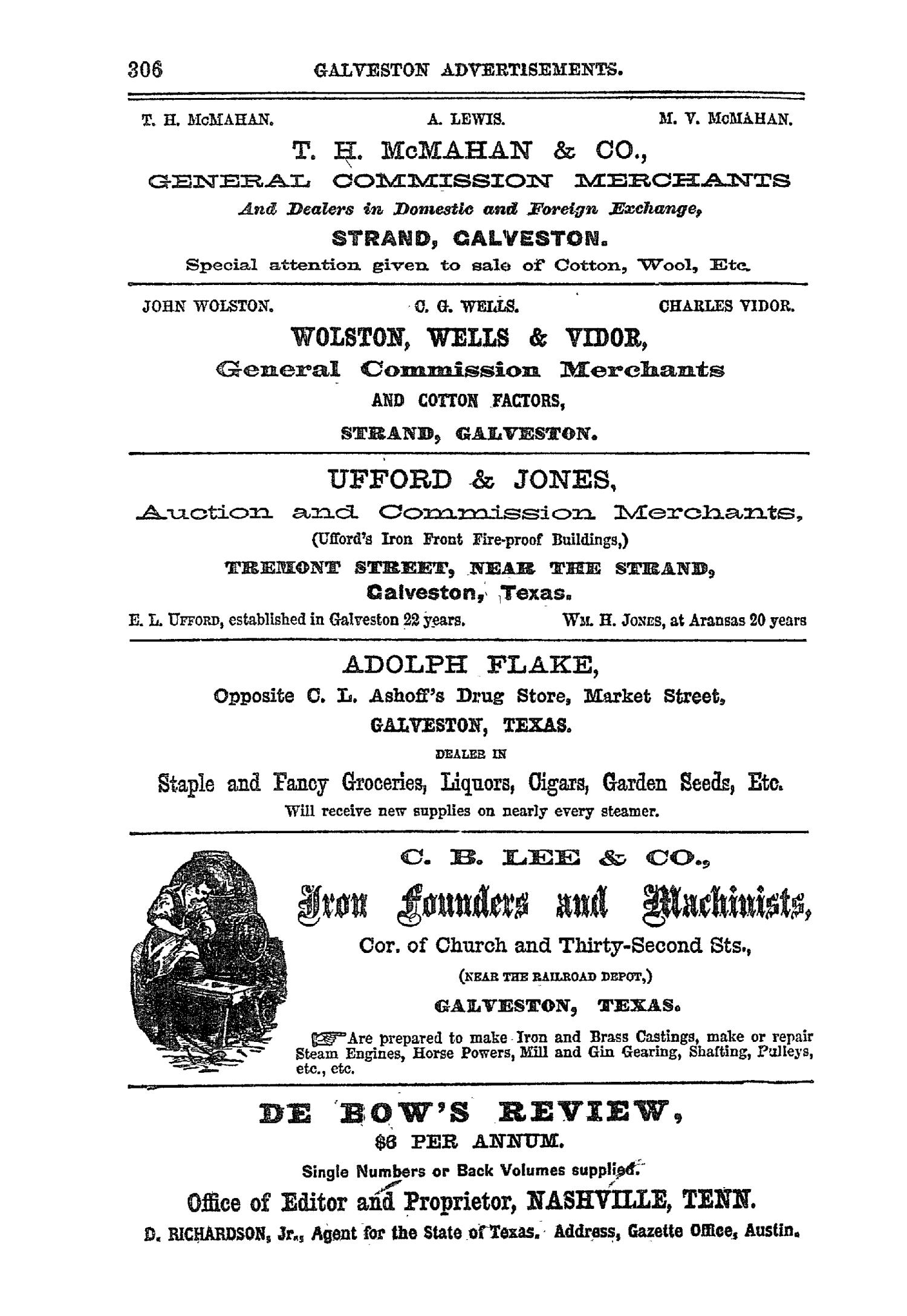 The Texas Almanac for 1867 with Statistics, Descriptive and