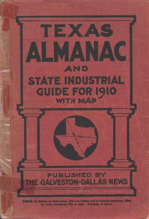 Texas Almanac and State Industrial Guide for 1910 with Map