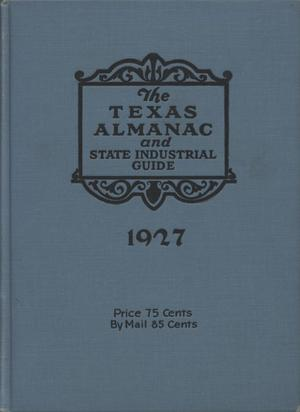 Primary view of object titled '1927 The Texas Almanac and State Industrial Guide'.