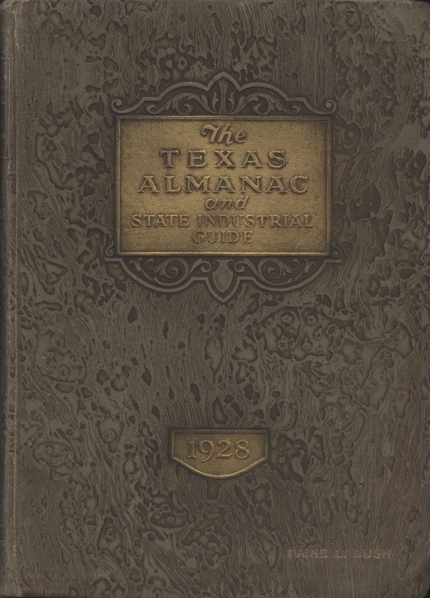 The 1928 Texas Almanac and State Industrial Guide                                                                                                      Front Cover