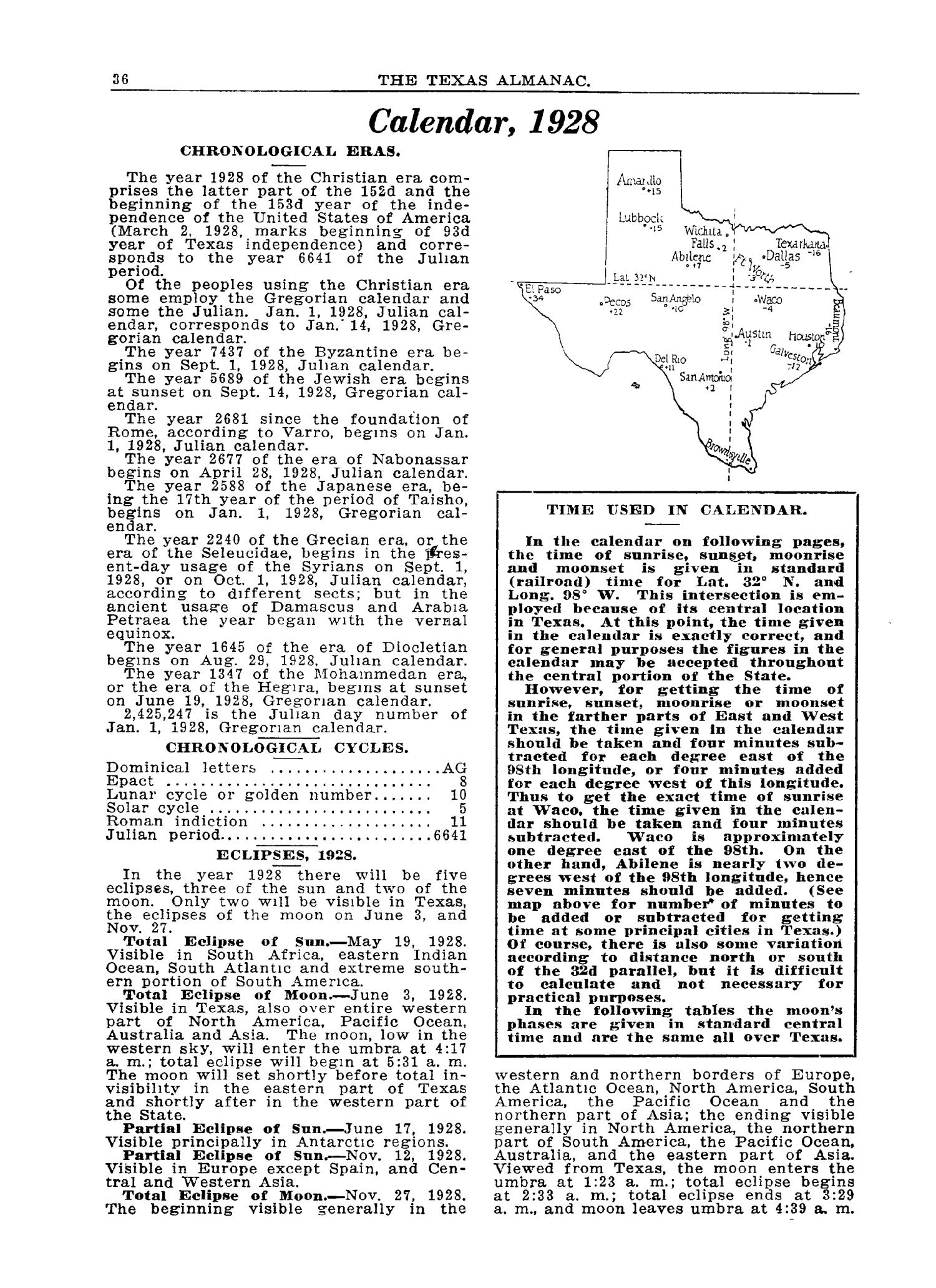 The 1928 Texas Almanac and State Industrial Guide                                                                                                      36