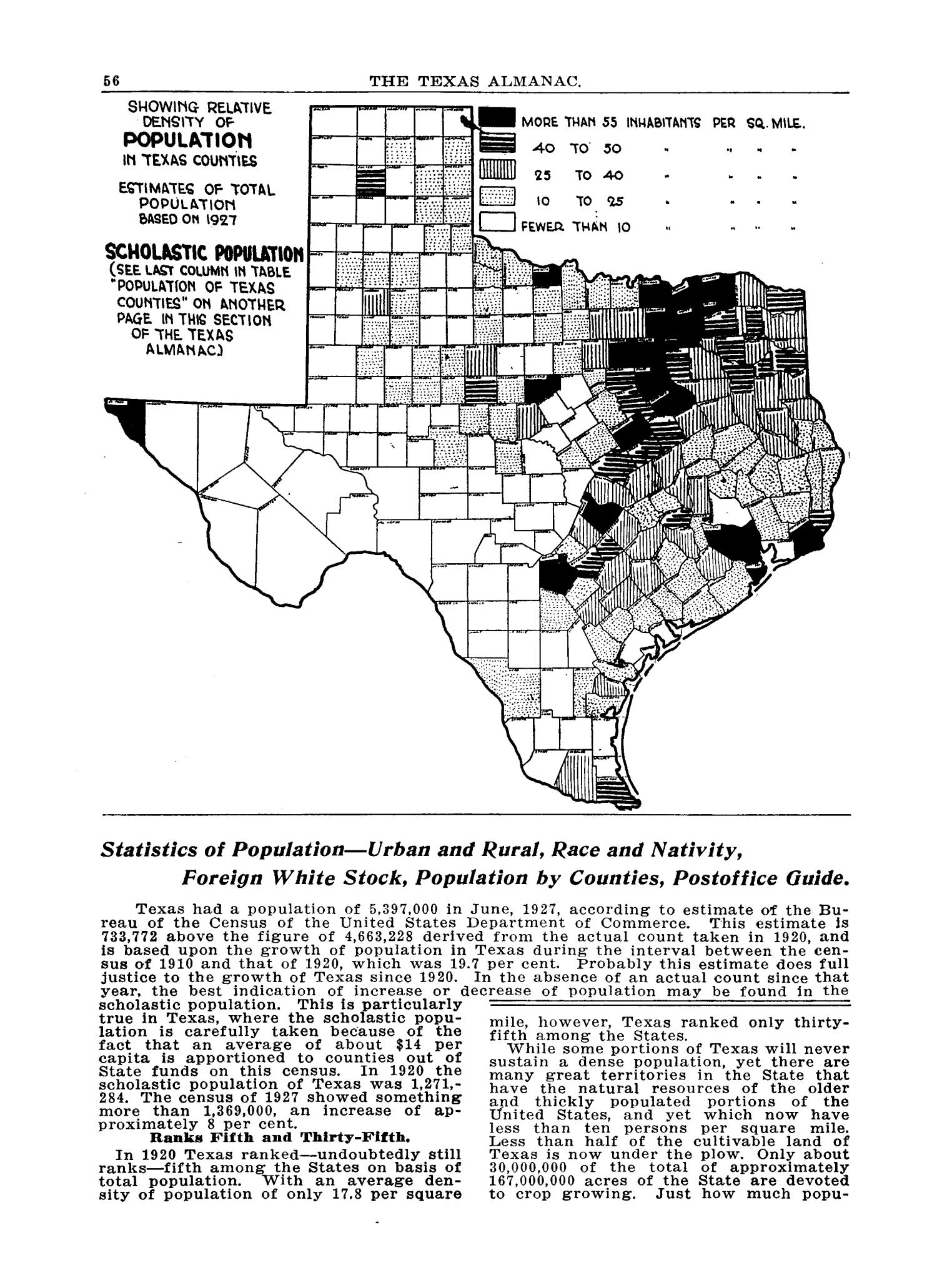 The 1928 Texas Almanac and State Industrial Guide                                                                                                      56