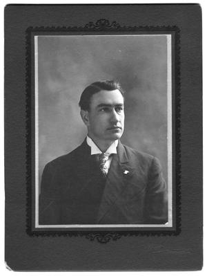 Primary view of object titled '[Unidentified man with tie and stiff collar]'.