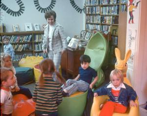 Primary view of object titled '[Children inside Emily Fowler Library]'.