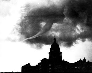 Primary view of object titled '[Tornado over Capitol]'.