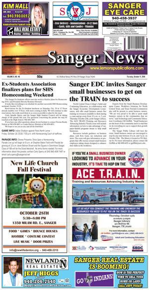 Sanger News (Sanger, Tex.), Vol. 6, No. 46, Ed. 1 Thursday, October 11, 2018