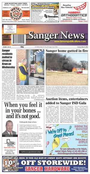 Sanger News (Sanger, Tex.), Vol. 2, No. 30, Ed. 1 Thursday, March 13, 2014