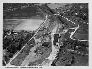 Primary view of object titled '[Aerial View of Zilker Park]'.