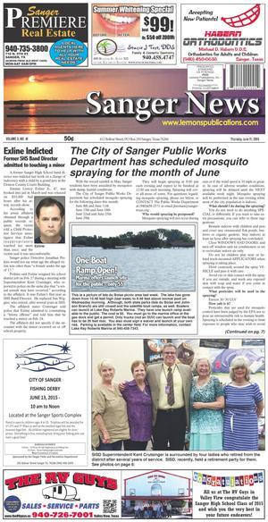 Sanger News (Sanger, Tex.), Vol. 3, No. 41, Ed. 1 Thursday, June 11, 2015