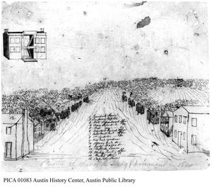 Primary view of object titled '[Austin City Plan, 1840]'.