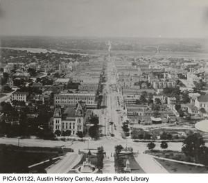 Primary view of object titled '[Congress Avenue looking south from Capitol Building]'.