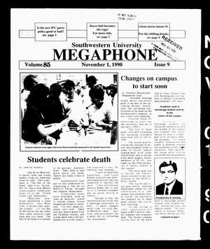 The Megaphone (Georgetown, Tex.), Vol. 85, No. 9, Ed. 1 Thursday, November 1, 1990