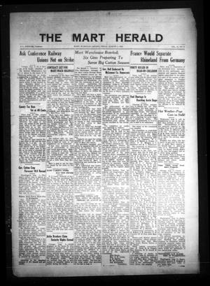 Primary view of The Mart Herald (Mart, Tex.), Vol. 23, No. 8, Ed. 1 Friday, August 4, 1922