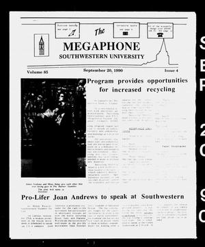 The Megaphone (Georgetown, Tex.), Vol. 85, No. 4, Ed. 1 Thursday, September 20, 1990