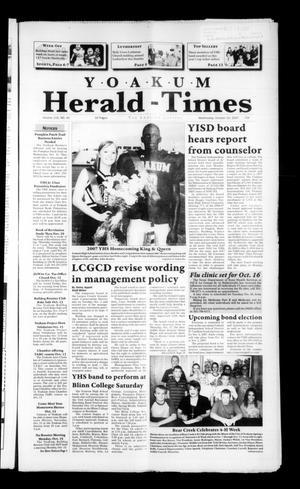 Yoakum Herald-Times (Yoakum, Tex.), Vol. 115, No. 41, Ed. 1 Wednesday, October 10, 2007