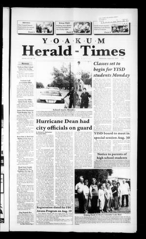 Yoakum Herald-Times (Yoakum, Tex.), Vol. 115, No. 34, Ed. 1 Wednesday, August 22, 2007