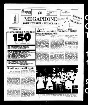The Megaphone (Georgetown, Tex.), Vol. 85, No. 6, Ed. 1 Thursday, October 11, 1990